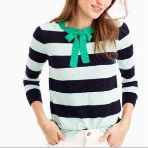 J Crew Tippi Tie Neck Striped Sweater Size XS